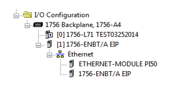 Screenshot of how to set up PLC to receive data from Inspector