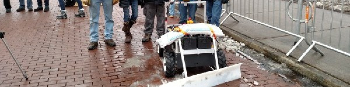 Autonomous Snowplow Competition Helps Students Gain Machine Design and Programming Skills
