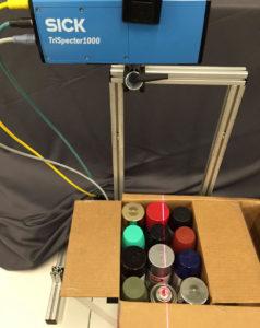 3d camera ensures quality, Case Study: A Single 3D Camera Ensures Quality of Spray Paint Cans