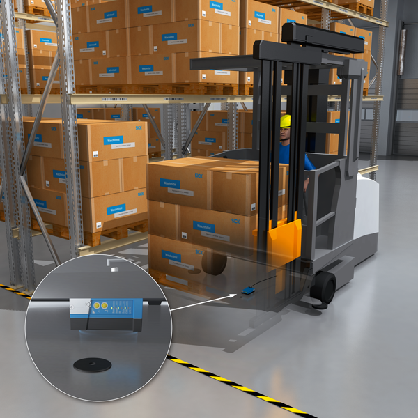 Forklift, Forklift Trucks: Driver Assistance in Narrow Aisles Thanks to RFID
