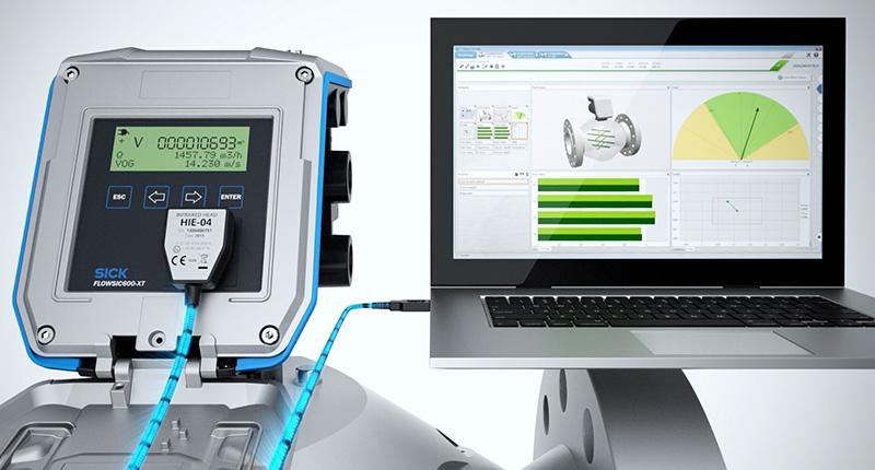 ultrasonic gas flow measuring, FLOWgate™: The gate to ultrasonic gas flow measuring devices from SICK