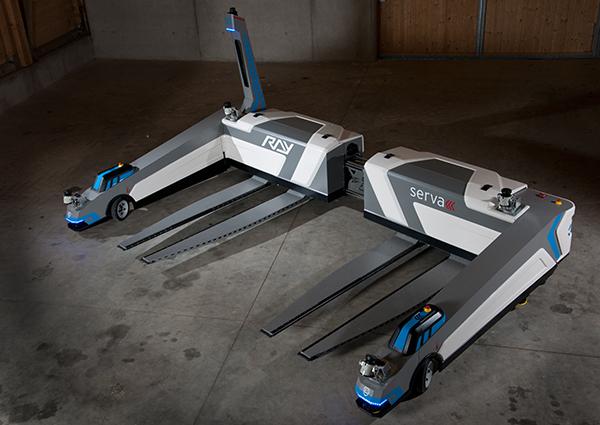 "Parking robot ""Ray"" a self parking AGV"