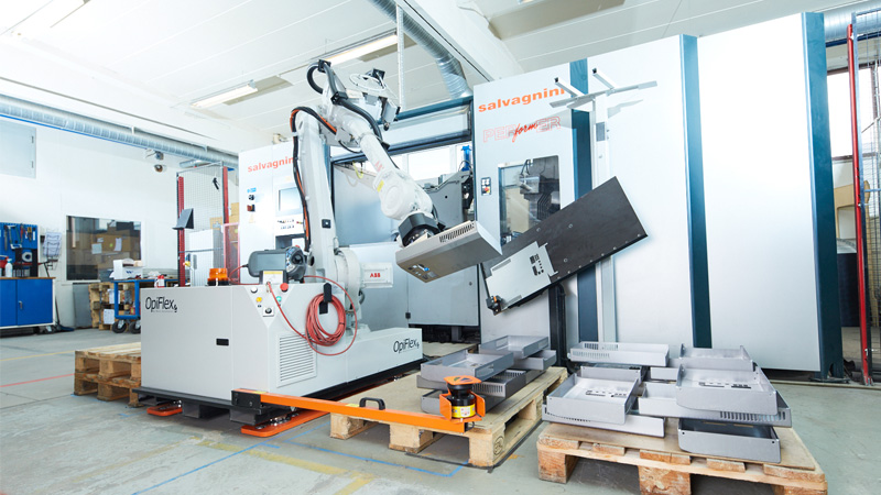 OpiFlex machine uses S300 mini to safely operate in the warehouse