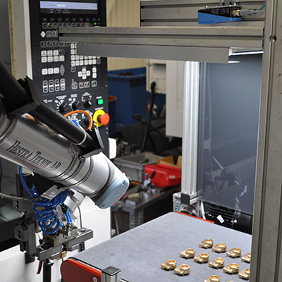 Cobot using vision technology for quality control