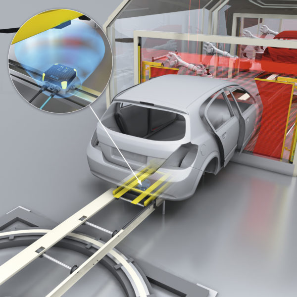 Flexible RFID Detection of Small Automotive Parts