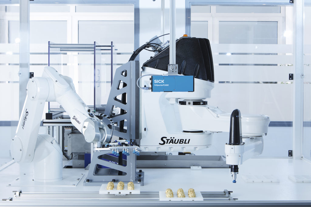 belt pick sensorapp, Sorting food on the packaging line with the TriSpectorP1000