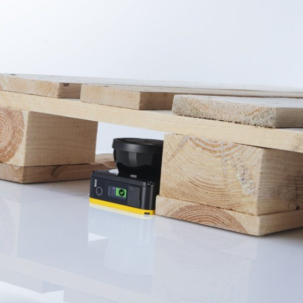 Smallest profile safety laser scanner on the market enhances use of small mobile robots