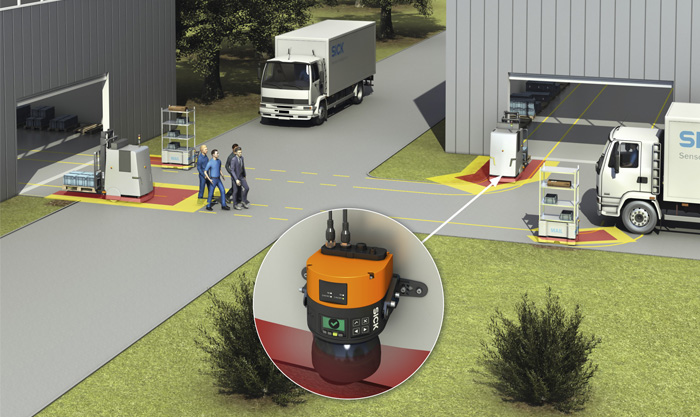 outdoor safety laser scanner, Outdoor intralogistics taken to a new level