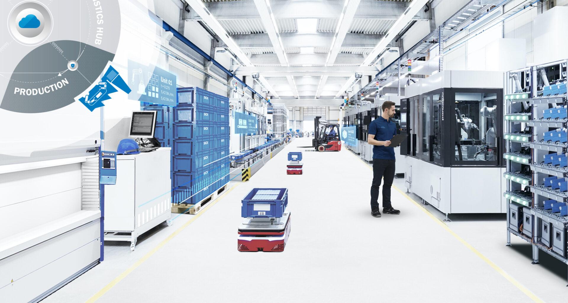 production logistics, Progress toward digitalization in the electronics industry