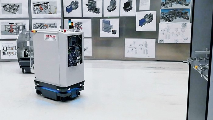 mobile robot, Ultracompact mobile robot used to optimize the process chain
